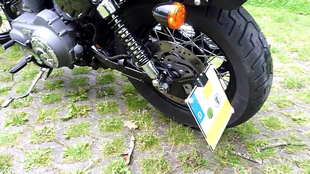 Harley Davidson Sportster Nighster Side License Plate