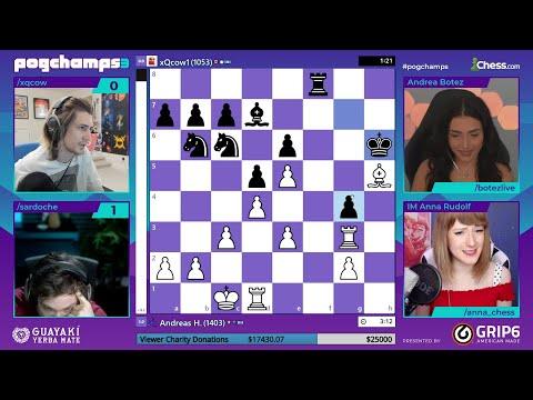 xQc vs Sardoche – PogChamps 3 Quarterfinals Chess Tournament (Game 4)