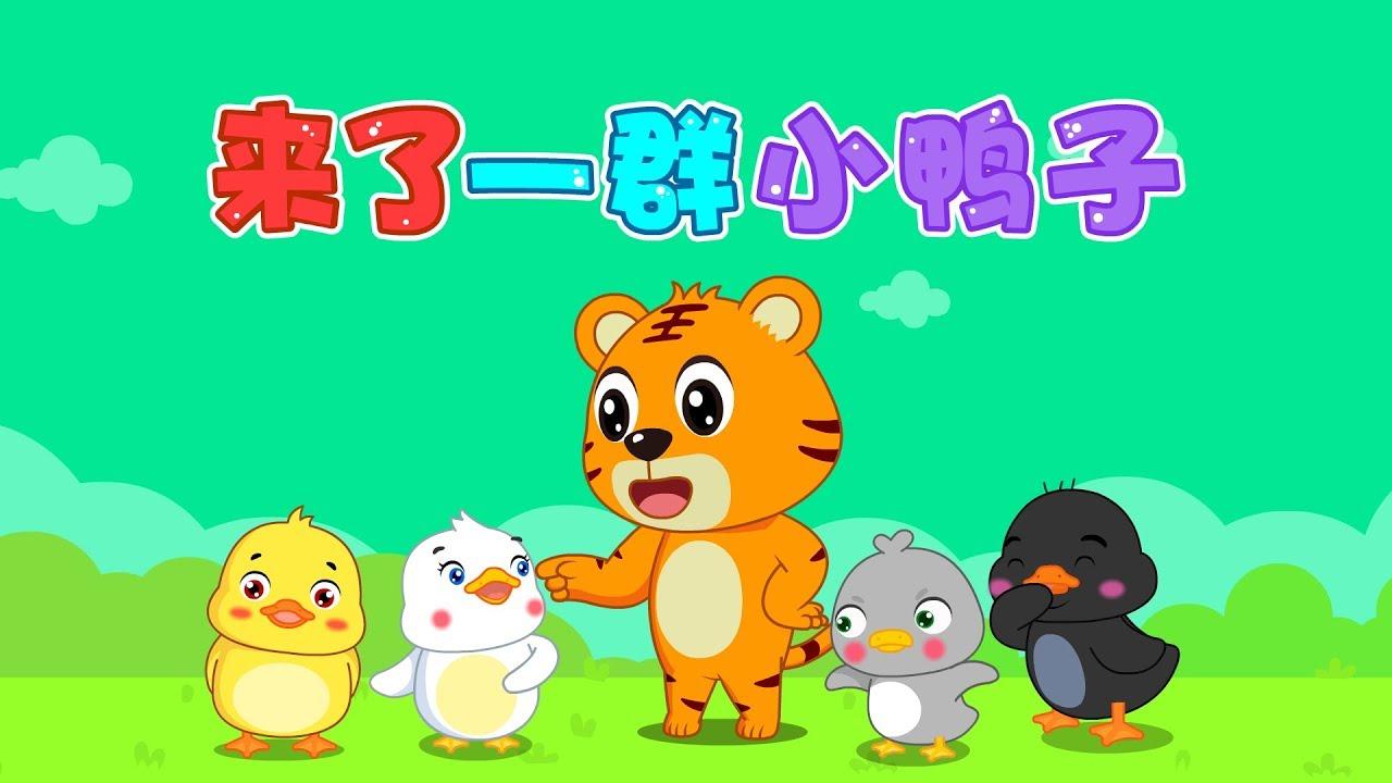 【國語兒歌】來了一群小鴨子 童年經典 兒歌童謠 幼兒早教啟蒙 貝樂虎 BabyTiger - YouTube