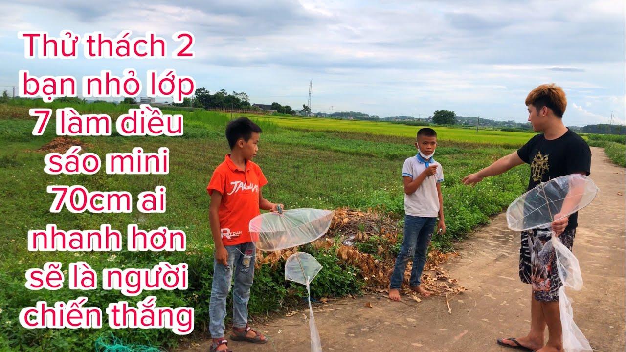 Download Ba Sói TV   thử thách 2 bạn nhỏ lớp 7 làm diều sáo mini 70cm ai nhanh hơn sẽ là người chiến thắng