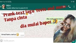 Gambar cover Prank text lagu Yovie and nuno - Tanpa cinta