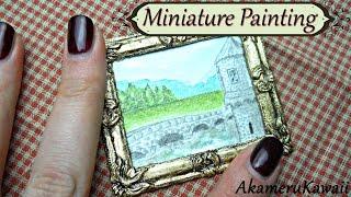 Miniature Painting -Dollhouse size