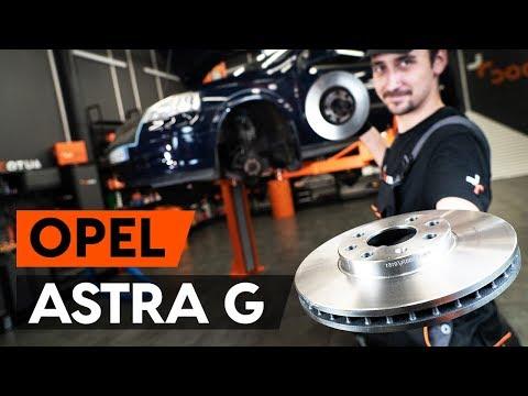 Как заменить передние тормозные диски на OPEL ASTRA-G CC 1 (F48_,F08_) [ВИДЕОУРОК AUTODOC]