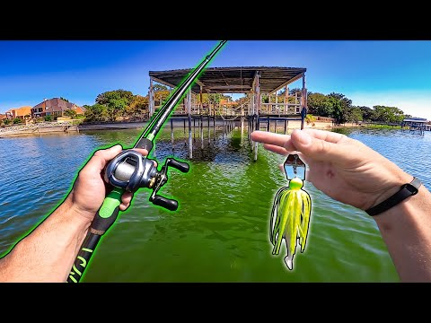 URBAN Fall Bass Fishing Heavily POLLUTED Texas Lake!