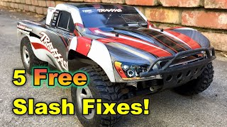 5 simple and FREE fixes for your Traxxas Slash!