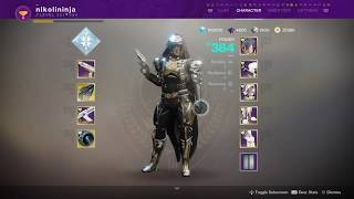 Destiny 2 - Hunter Full Armor Spire of Stars Equitas Shade Set