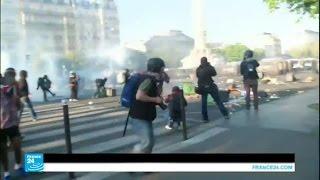 اشتباكات بين الشرطة ومتظاهرين في عيد العمال في باريس