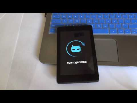 CyanogenMod 11 on the Fire HD6 4th edition (Works on Fire HD7 4th also)