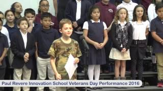 Paul Revere Innovation School Veterans Day Performance 2016