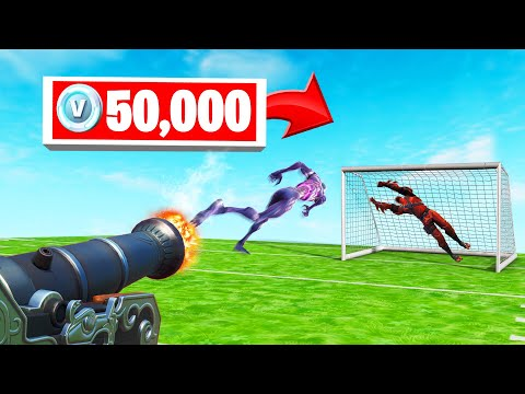 ZOMBIE FOOTBALL 50,000 V-BUCKS Challenge! (Fortnite Minigame)