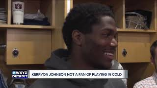Kerryon Johnson ready for the Packers, not for the cold