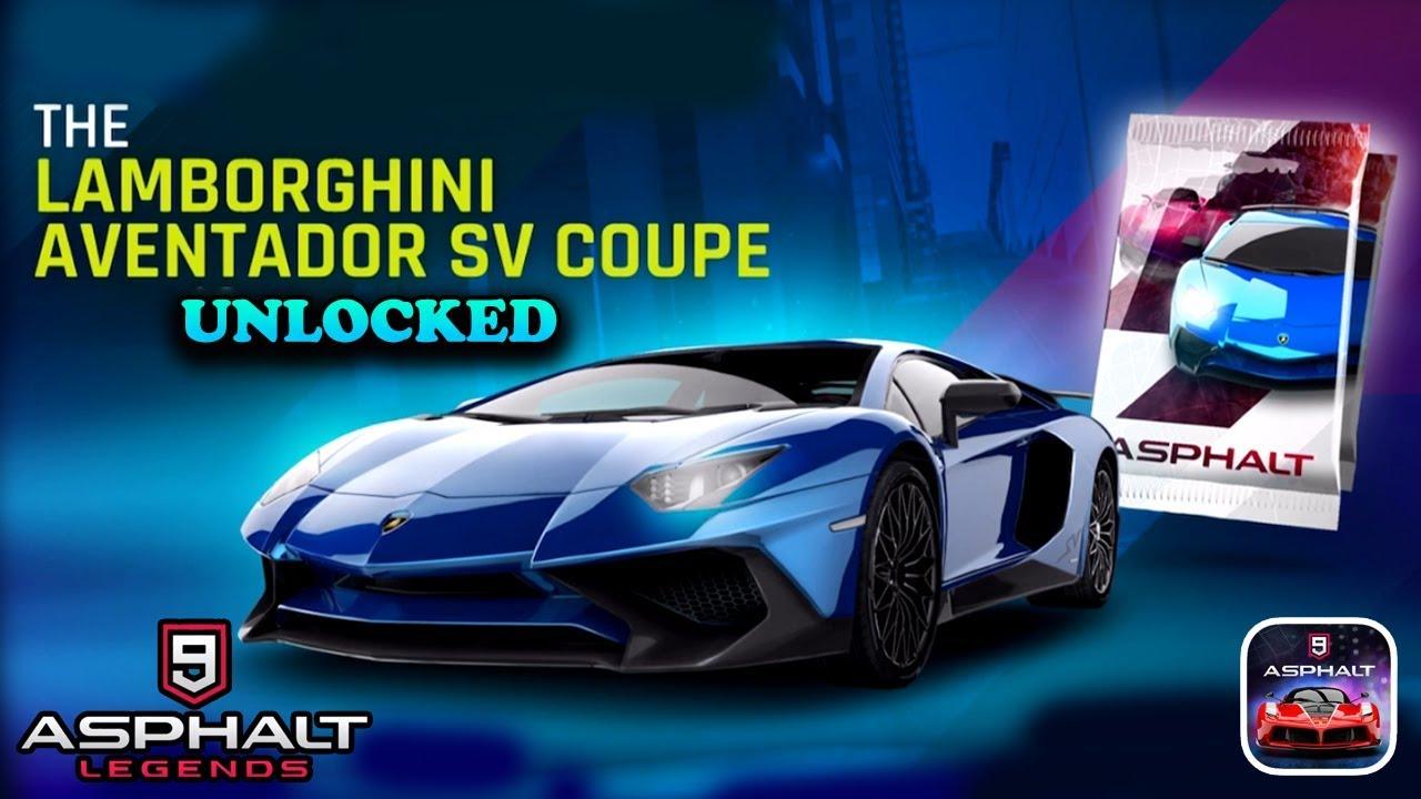 Asphalt 9 Legends Lamborghini Aventador Sv Coupe Gameplay Youtube