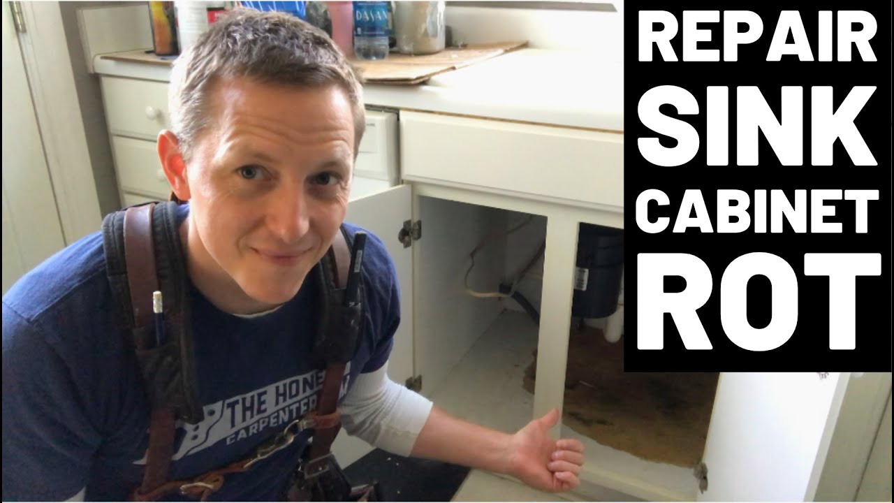 Rotted Sink Cabinet Floor How To Fix