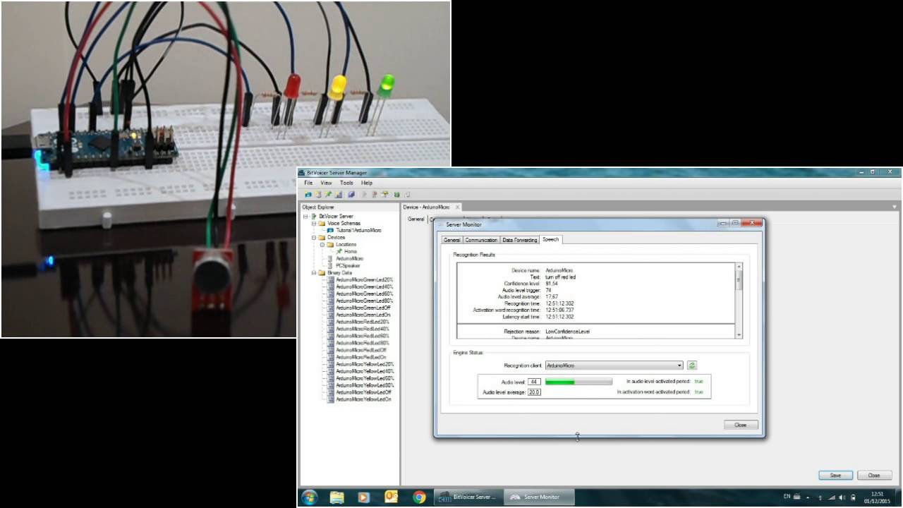 Speech Recogntion with Arduino and BitVoicer Server