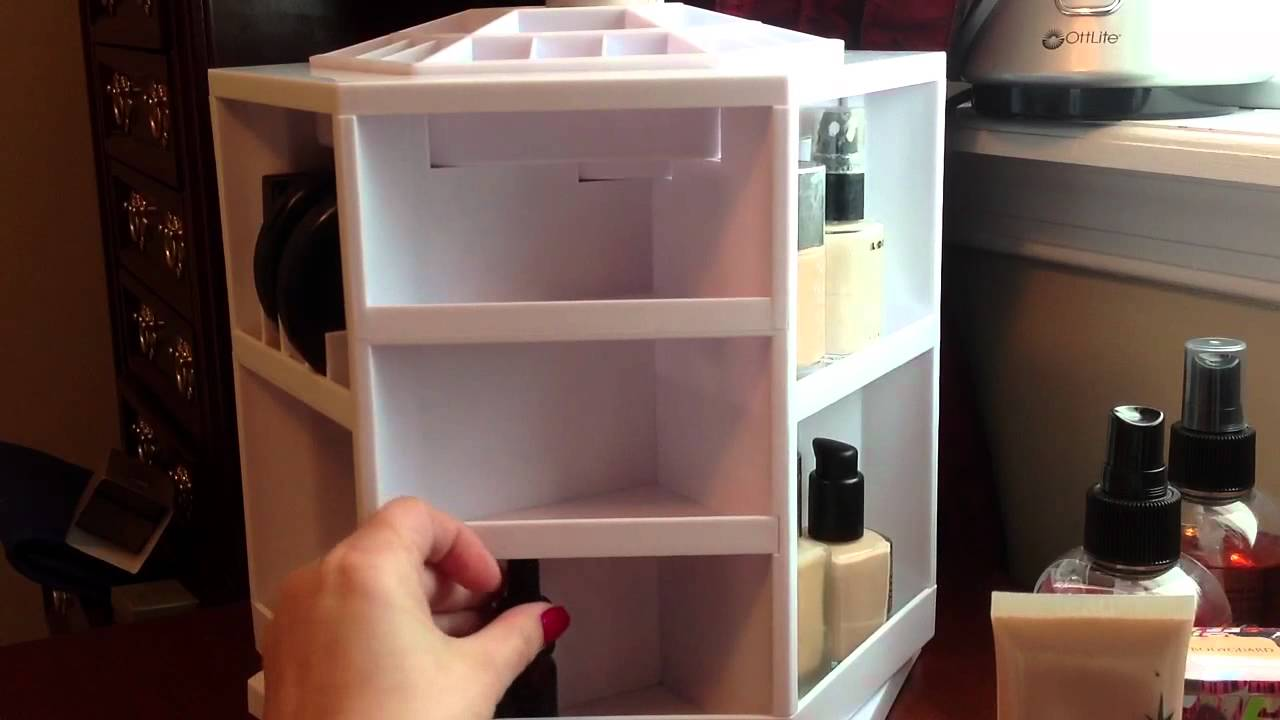Exceptional Tabletop Spinning Cosmetic Organizer   Review   YouTube