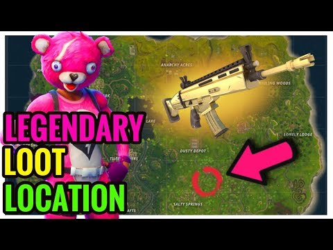 SCAR LOCATION? HOW TO GET LEGENDARY SCAR EVERY TIME In FORTNITE BATTLE ROYALE! (ALL CHEST LOCATIONS)