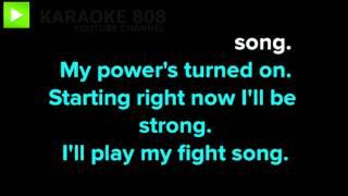 Fight Song ~ Rachel Platten Karaoke Version ~ Karaoke 808