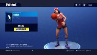 NOUVEAU FORTNITE BALLER EMOTE AVEC LE TRIPLE THREAT SKIN EQUIPPED
