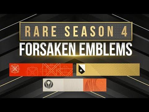 SUPER RARE Forsaken Emblems! Promotions & In-Game Secret Challenges!