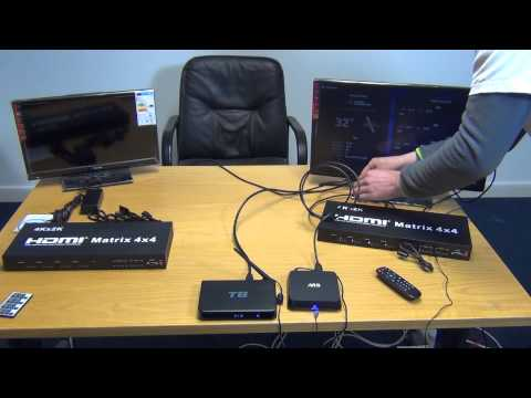 4x4 HDMI Matrix (4K x 2K Resolution) - YouTube