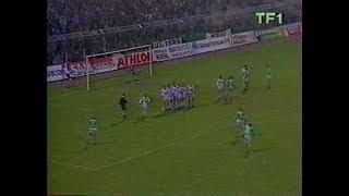 ASSE 4-0 Brest - 19e journée de D1 1987-1988