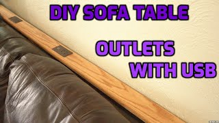 DIY Sofa Table with Outlets | …
