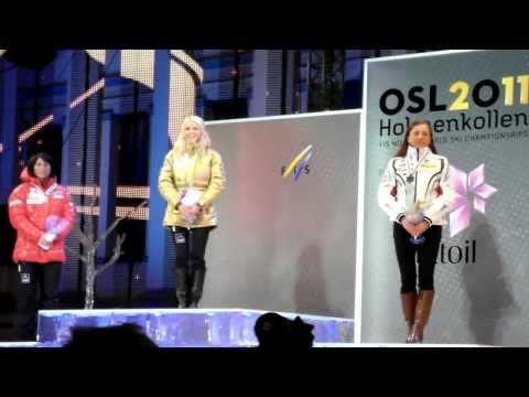 Ski-VM 2011 Oslo: Medaljeutdeling 30 km, damer - Gull til Therese Johaug