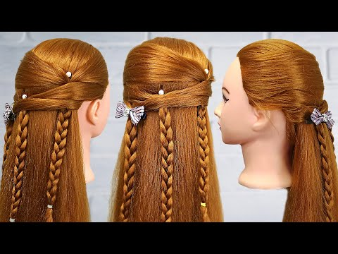 Braided hairstyles for wedding guests | Bridal hairstyle for long hair | Romantic wedding hairstyles