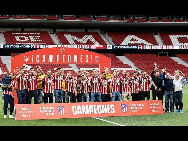 Los campeones celebraron el título de LaLiga en el Wanda Metropolitano
