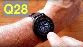 ColMi Q28 Blood Pressure IP68 Waterproof Sports Fitness Smartwatch: Unboxing and 1st Look