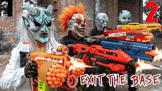 GUGU Nerf War : CID Dragon Nerf Guns Fight Criminal Group SKMAN Mask New Power 2