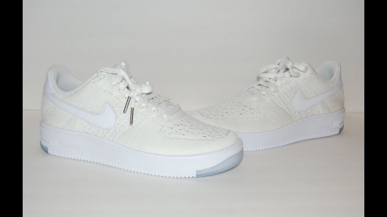 7fe8b88e88da76 Nike Air Force 1 Ultra Flyknit Low White Ice - YouTube