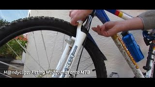 Fitting and adapting cheap £1 Poundland mudguards / fenders onto mountain bike MTB