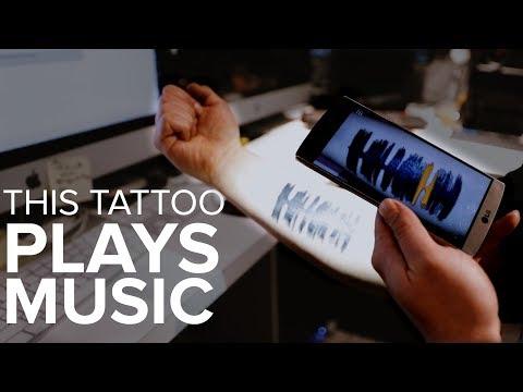 I got a tattoo that plays music