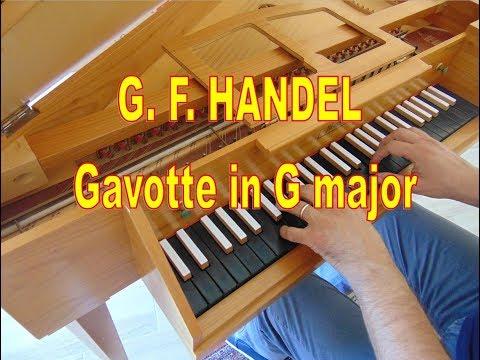 G. F. HANDEL: Gavotte in G major, HWV 491 - Harpsichord