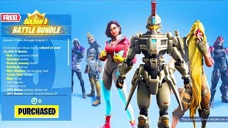SAISON 9 BATTLE PASS SKINS! FORTNITE SAISON 9 MISE À JOUR! (Fortnite Battle Royale LIVE Gameplay)