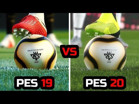 PES 19 VS PES 20 - GAMEPLAY COMPARISON