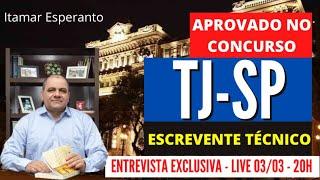 LIVE - TJSP - ENTREVISTA APROVADO NO CONCURSO - ITAMAR ESPERANTO