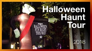 2018 Halloween Haunt Tour - Yard Decorations - Outside Night Tour at Boddy Creek Manor