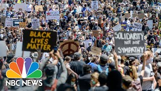 As Crowds Protest Police Violence, Social Distancing Takes A Back Seat | NBC News NOW