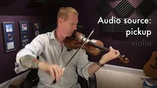 Schertler STAT-V violin transducer setup & demo