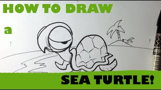 How to Draw a Turtle - Easy Pictures to Draw