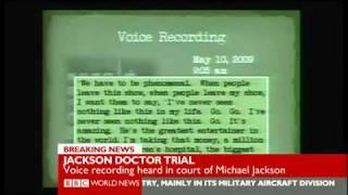 tape of michael jackson s slurred words