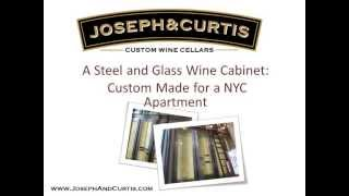 Modern Steel And Glass Wine Cabinet For A Nyc Apartment - By Joseph & Curtis