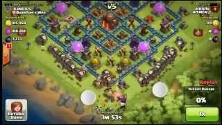 Clash of Clans - Quantum's Web on rage mode - AWESOME attack at 4200 and EPIC ATTACKING FAIL at 4400