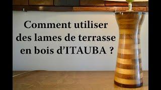 PIED DE LAMPE EN BOIS D'ITAUBA. 423.