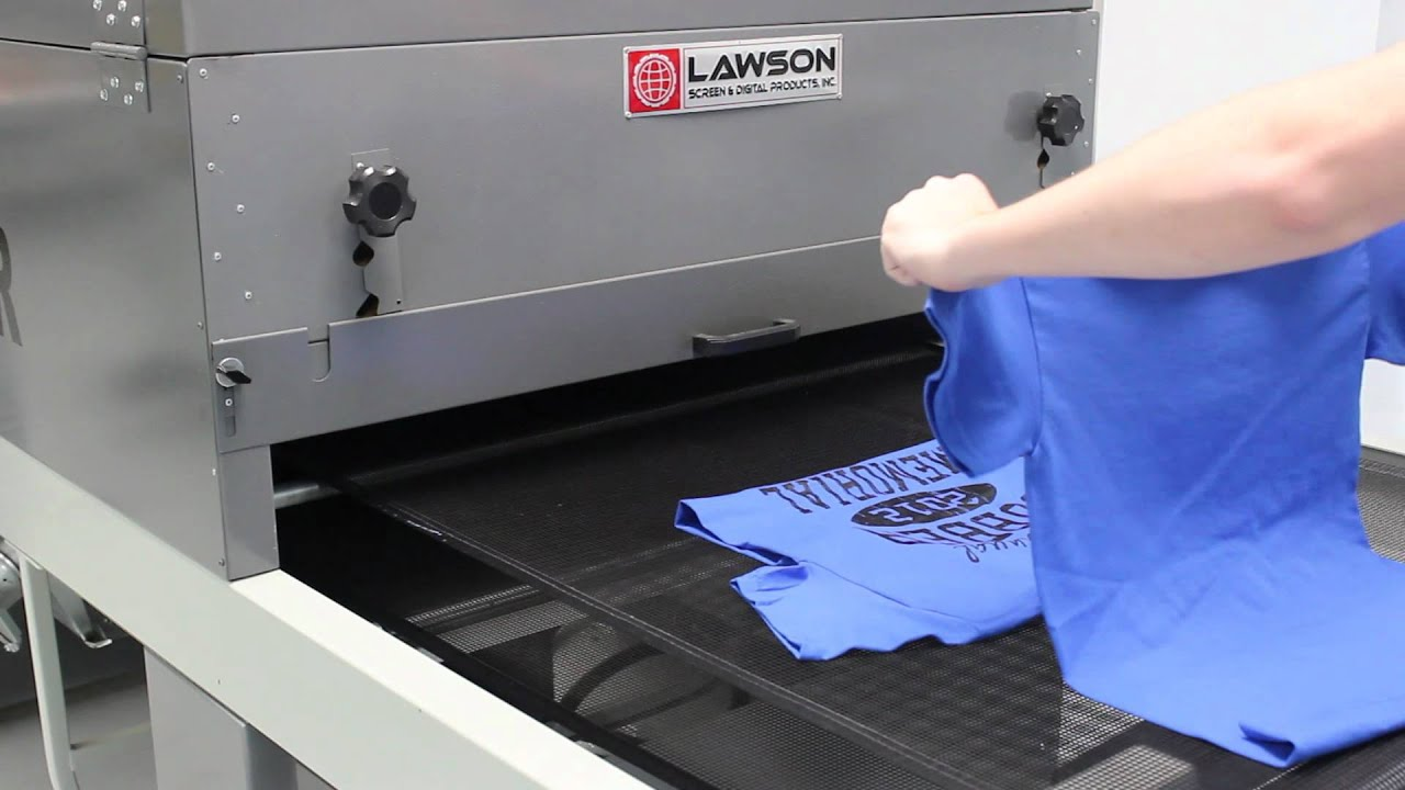 Infrared Conveyor Dryer Lawson Omega For Screen Printing T Shirts