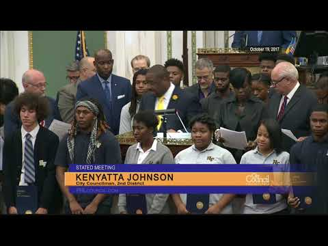 Councilwoman Parker Honors Hill-Freedman World Academy Students for Their Poetry Album 10-19-2017