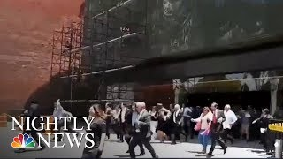Another Mexico Earthquake Sends Panicked People to Streets | NBC Nightly News