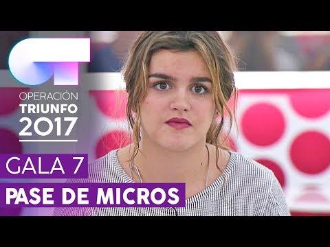 ACROSS THE UNIVERSE - Amaia | Primer pase de micros para la Gala 7 | OT 2017